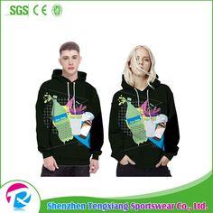 2017 High quality long sleeve fashion mens clothing wholesale fleece hoodie