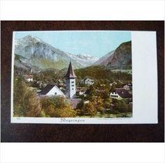 Switzerland Meyringen vintage colour UPU postcard Meiringen mountains