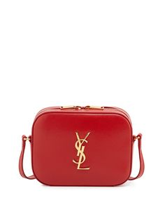 Saint Laurent Monogramme Camera Crossbody, Red