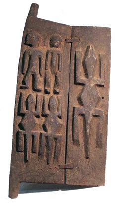 Africa | Granary door from the Dogon people of Mali | Wood and metal