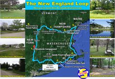 Best RV Routes - an RV loop through all of the New England States East Coast Travel, East Coast Road Trip, New England States, New England Travel, Rv Travel, Travel Maps, Vacation Destinations, Vacation Ideas, Plymouth Rock