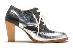 Esquivel Shoes Silver Metallic Heel