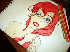 The Little Mermaid Ariel drawing