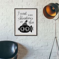 Boyfriend gift I want to have adventures with you by AlniPrints #poster #wallart