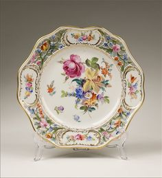 Dresden Reticulated Carl Thieme Fruit Bowl and Underplate from piatik on Ruby Lane
