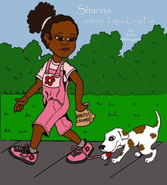 Shanna is excited to spend the day with her Grandmother, eating fresh baked cookies, picking strawberries, and spending a day at the park feeding the ducks!  That is, until a little spotted puppy decides to tag along...Shanna and the Tag-a-Long Pup!