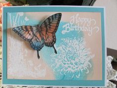 Butterfly Birthday by JeannieD - Cards and Paper Crafts at Splitcoaststampers