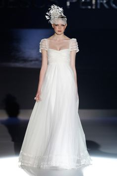Jesus-Peiro-wedding-Also in an almost regency era, Barely-there lace and dainty soft sheer fabric sleeves combined with romantic full skirts made for some gorgeously girly gowns. The stuff little girl's dream wedding dresses are made of.