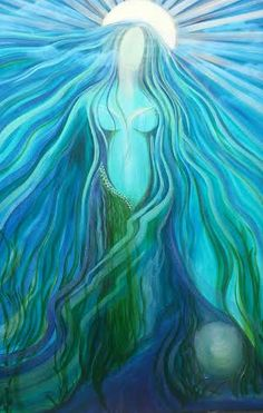 Domnu, Mother of water, Lady of the sacred waters, Lady of the deep ocean, of the lakes and springs and holy wells: created by Tiana