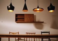 chairs, lights