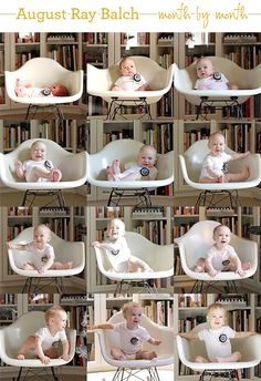 month by month baby pictures