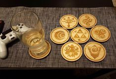 My friend made me these coasters and brought a 6-pack over for my birthday (Legend of Zelda)