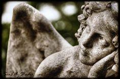 Angel Mine 8x12 angel photo art nouveau statue by SeaLilyStudio, $30.00