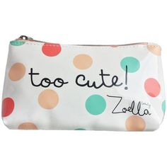 """Zoella Beauty Limited Edition Multi Coloured Dotty """"Too Cute Make Up... ($33) ❤ liked on Polyvore featuring beauty products, beauty accessories, bags & cases, bags, accessories, bolsa, travel bag, make up bag, bag pencil case and wash bag"""