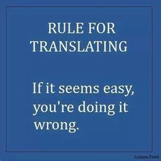 Rule for #translating