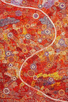Amazing Australian Aboriginal Artwork by Barbara Weir / Mother's Country is the title of the painting. Aboriginal Artwork, Western Australia, Country, Gallery, Artist, Painting, Beauty, Colors, Masks