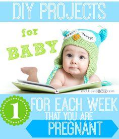 3d75c26f8c1a DIY baby projects  one for every gestation week! Arrivée De Bébé, Future  Maman