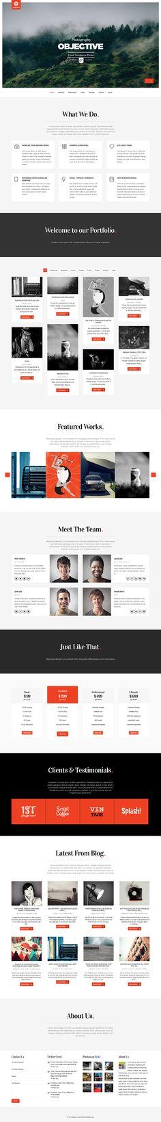 Objective - Responsive Portfolio Photography Theme on Behance