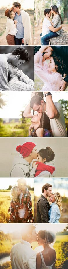 37 Must Try Cute Couple Photo Poses - The Forehead Kiss!  Something Kyle does all the time - a definite must for our engagement photos.