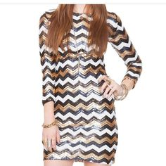 Chevron Shimmering Dress