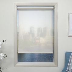 """Harbor Shades White Roller Shade Length: 72"""", Width: 27"""""""