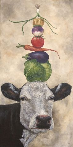 """Sous Chef at the Lucky Seven Vegan Cafe"" Vicki Sawyer - Available Originals - Art - Deco Champetre, Motifs Animal, Vegan Cafe, Art Et Illustration, Oui Oui, Objet D'art, Whimsical Art, Animal Paintings, Cute Art"
