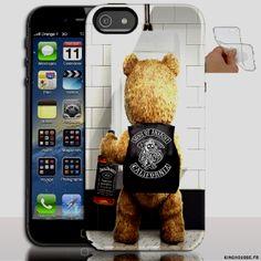 Housse iphone 5 en Silicone personnalisé Teddy SOA - Coque souple - Gel - Pour Apple iPhone 5s, iPhone 5. #Silicone #iPhone5 #Apple