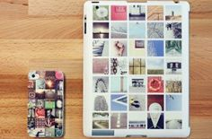 Cute idea::  Plaster the back of your iPad with Instagram photos.