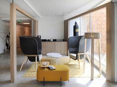 Novotel Hotels in Nancy, featuring De Vorm's Pod Chair.  http://www.devorm.nl/products/pod  #devorm #podchair #petfelt #petstoel