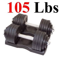 One Pair of Adjustable Dumbbells Kits - 105 Lbs (52.5lbs X 2pc) with Trays by Star Ring, http://www.amazon.com/dp/B009G4PIY4/ref=cm_sw_r_pi_dp_.lhQrb1QVFS56