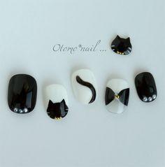 Pastel Goth Nails, Goth Nail Art, Star Nail Art, Classy Nails, Simple Nails, Black Nail Designs, Nail Art Designs, Korean Nails, Japanese Nail Art