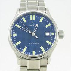 【楽天市場】【中古】【OMEGA】オメガメンズ腕時計クラシック ATスイス製ブルー文字盤オートマチック(自動巻):j-material楽天市場店