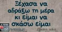 Ξέχασα να αδράξω Funny Greek Quotes, Funny Picture Quotes, Funny Facts, Funny Jokes, Greek Words For Love, Teaching Humor, Smart Quotes, Funny Thoughts, Try Not To Laugh