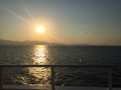 Sunset at sea - the Cyclades