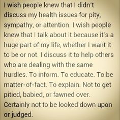 This sums it up perfectly. 'My Life with Epilepsy'