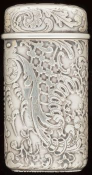 Silver Smalls:Match Safes, A TIFFANY & CO. SILVER MATCH SAFE, New York, New York, circa1882-1891. Marks: TIFFANY & CO., STERLING SILVER, 7127, M,49...