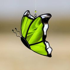 Butterfly, green butterfly suncatcher, green butterfly ornament, green monarch on Etsy