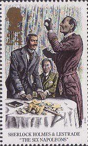 Sherlock Holmes 24p Stamp (1993) The Six Napoleons