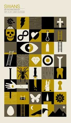 Creative Posters, Gigposters, -, Swans, and Gigposter image ideas & inspiration on Designspiration Poster Design, Graphic Design Posters, Graphic Design Illustration, Graphic Design Inspiration, Creative Illustration, Creative Inspiration, Gig Poster, Concert Posters, Poster Prints