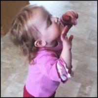 "Sweet Baby Praises Jesus During Chris Tomlin's ""Our God"" ! Awww! So cute <3"