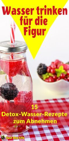 Drink water for the figure - 15 detox water recipes for losing weight day detox diät diät 3 tage drinks rezepte rezepte abnehmen smoothie rezepte toxins wasser rezepte weightloss Detox Diet Drinks, Smoothie Detox, Smoothies, Detox Cleanse For Weight Loss, Detox Diet Plan, Cleanse Detox, Detox Soup, Stomach Cleanse, Digestive Detox