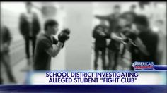 A California school district is investigating allegations of a student 'fight club' at a high school.