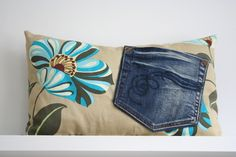 upcycling for your couch * vintage jeans pillow *