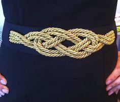 Como hacer un cinturón de cordón de seda, DIY cinturón, tutorial cinturón cordón de seda, cinturón nudo marinero,