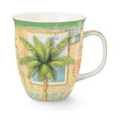Coastal Palm Tree Sun and Sea Coffee Latte Tea Harbor Mug * Visit the image link more details.