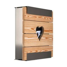 glasnost.wood.heart designer post box - latest addition to our range - contemporary and cute