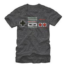 Nintendo NES Controller Buttons Mens M Graphic T Shirt - Fifth Sun @ niftywarehouse.com #NiftyWarehouse #Mario #SuperMario #Nintendo #VideoGames #Gaming #MarioBrothers
