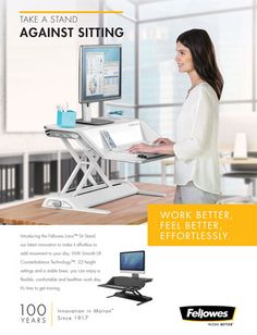 Take a stand against sitting - 100 years of Fellowes Feel Better, The 100, Take That