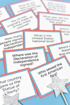 How well do you know your early American history? This printable Fourth of July trivia is not only fun for history buffs, but makes a great game for patriotic parties! Includes both questions and answers. 4th Of July Trivia, 4th Of July Games, Fourth Of July Food, 4th Of July Party, July 4th, Fourth Of July Crafts For Kids, Patriotic Crafts, Patriotic Party, 4th Of July Decorations