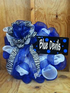 U think JJ will let me put this on the door?  Duke Blue Devils Wreath